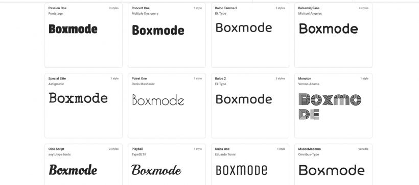 Decorative fonts for a website