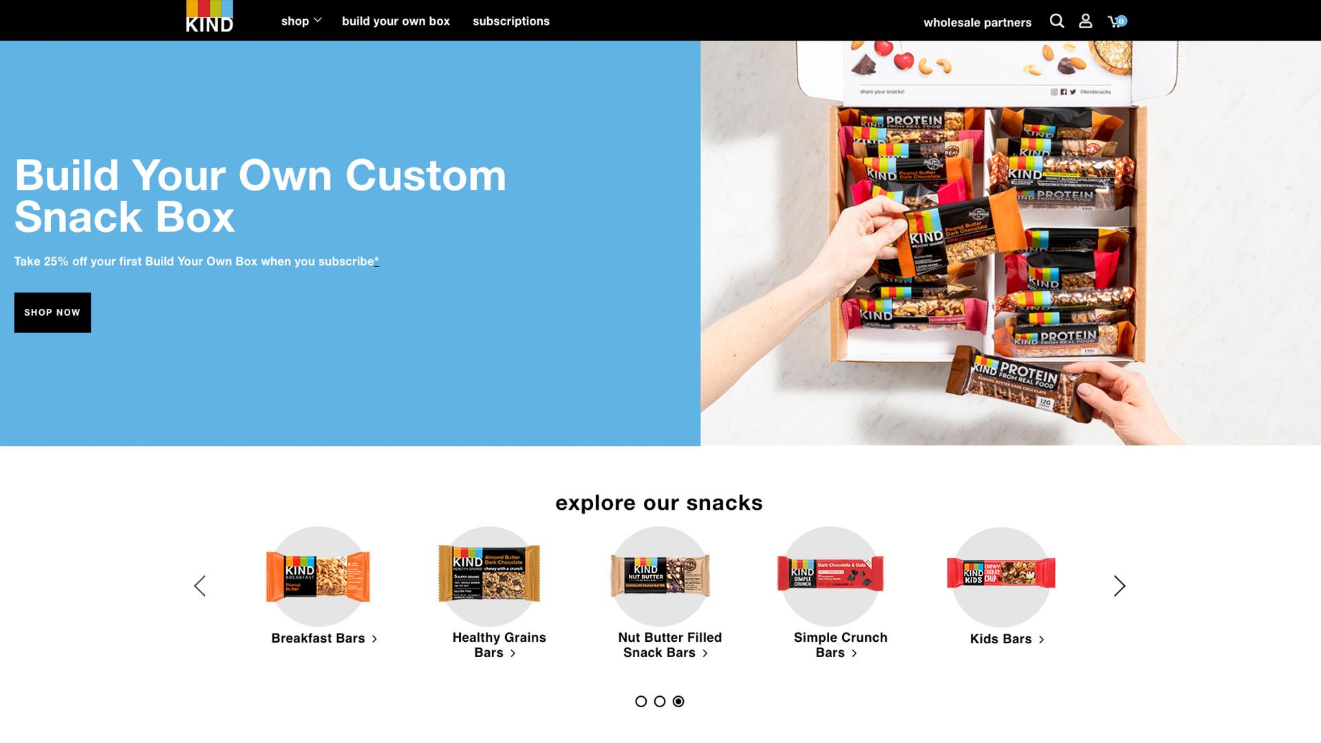 Kind homepage design
