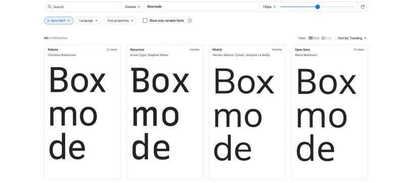 Sans-Serif website fonts