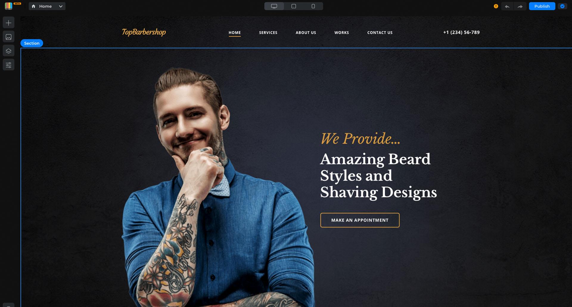 Barbershop template