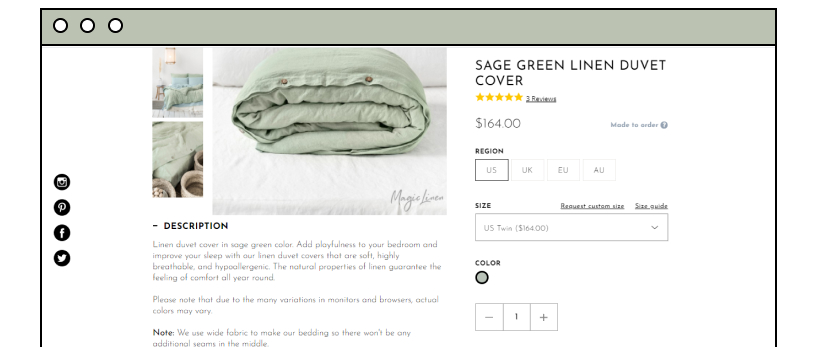 bed linen product description