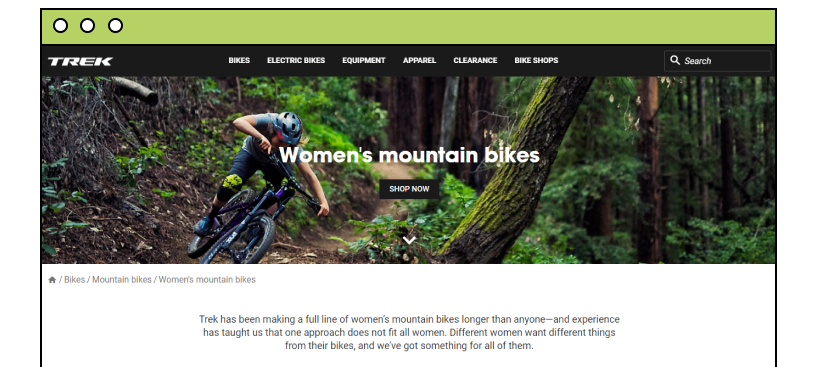 TREK website