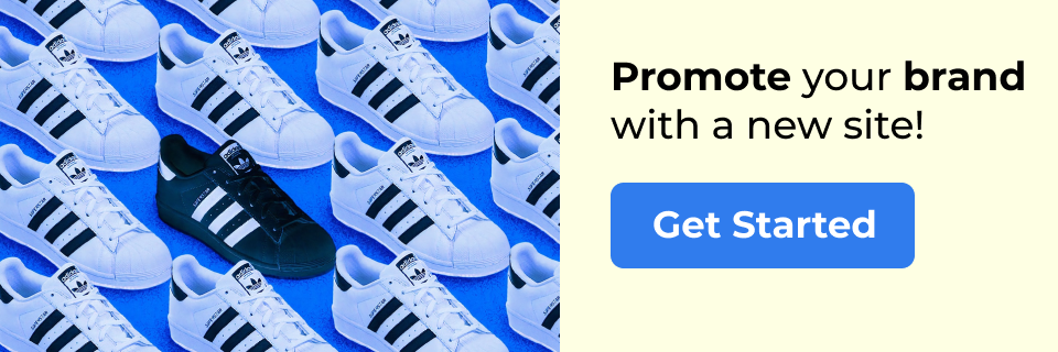 promote your brand with a new site