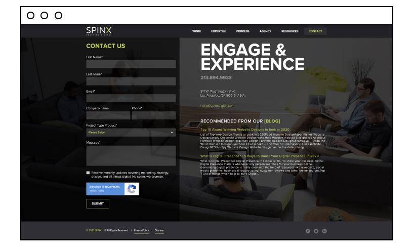 Spinx Digital great footer