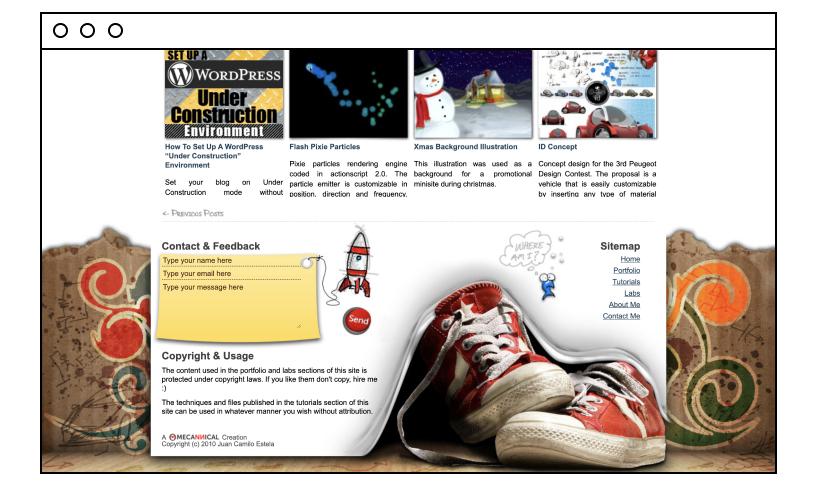 Mecannical website footer