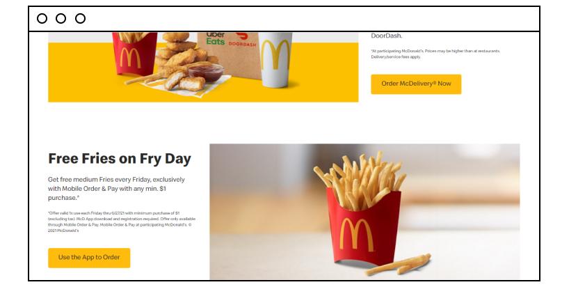 Mcdonald's website