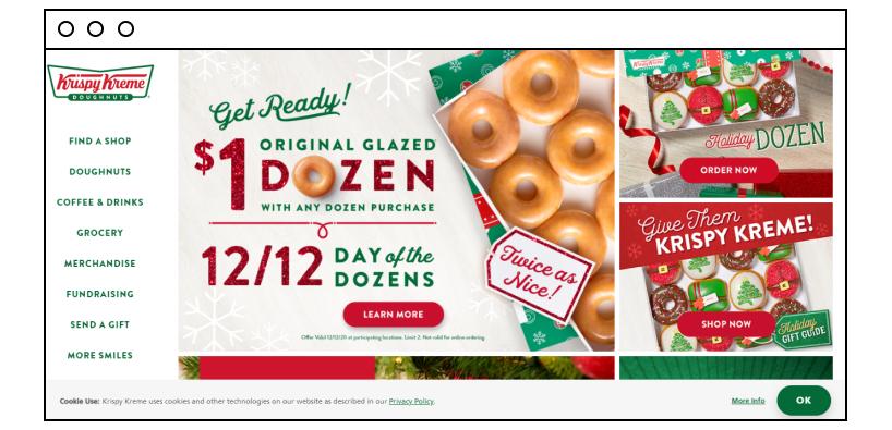 Krispy Kreme website