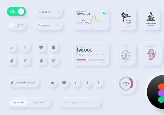 Neumorphic Design: new UI design trend