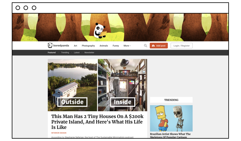 Bored Panda: website to kill time on the internet