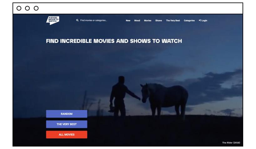 A Good Movie to Watch: great movie website