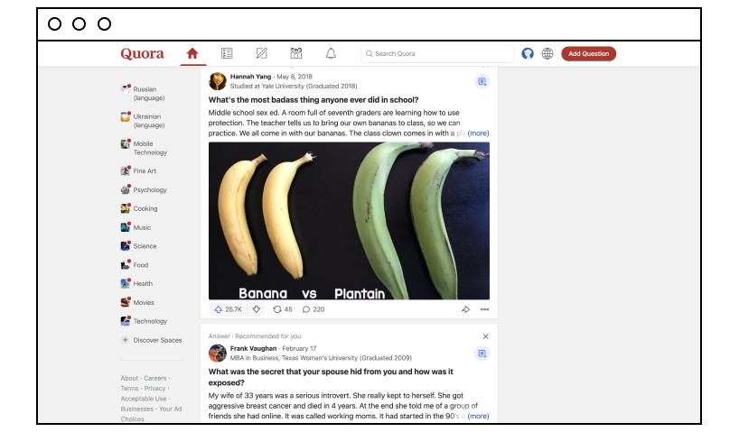 Quora website screenshot
