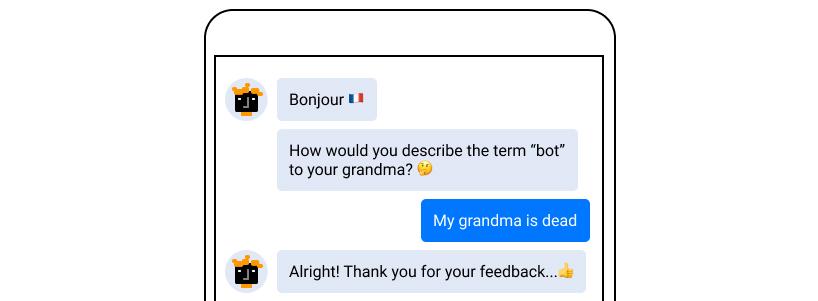 funny chatbot fails: a no-nonsense attitude