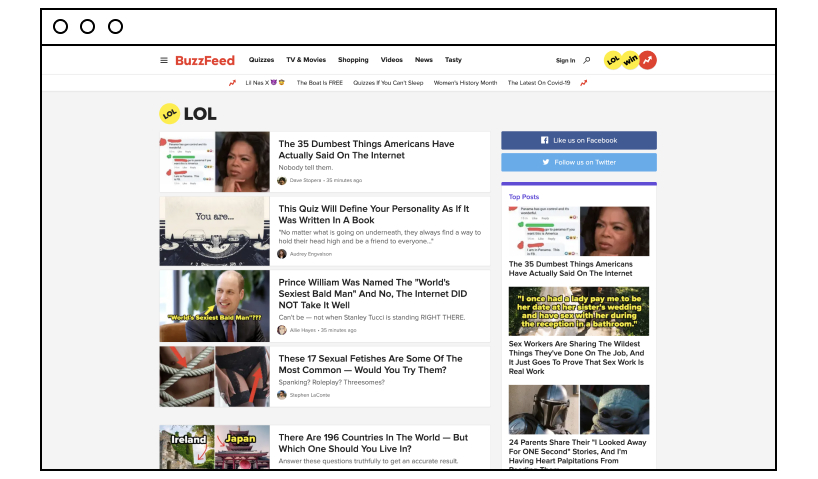 Buzzfeed: cool website to check out