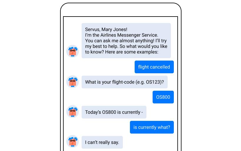 Vagueness: customer service chatbot fail