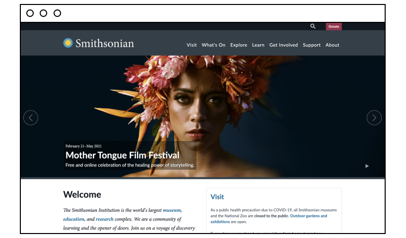 Smithsonian: time pass website