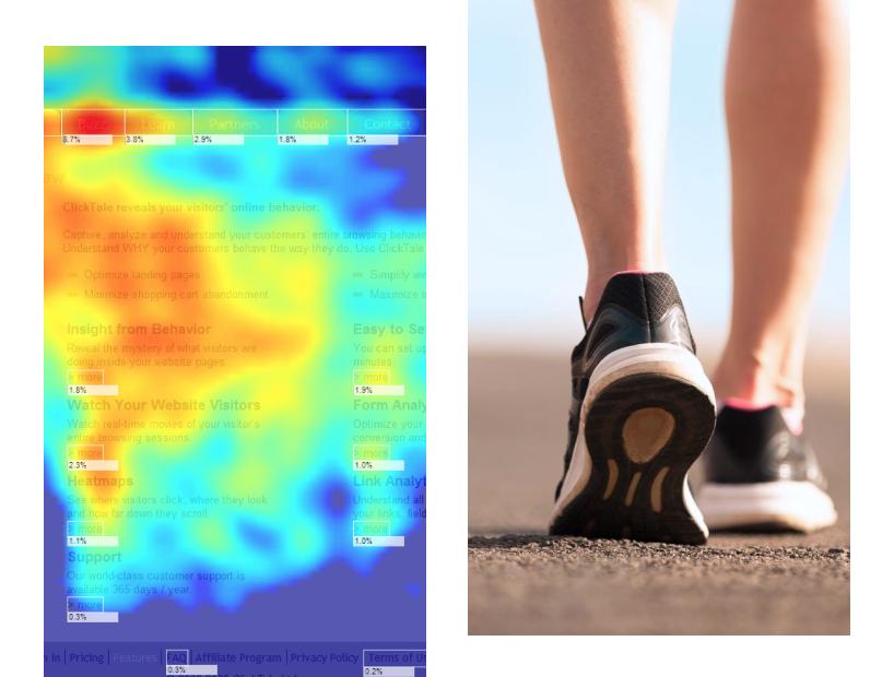 Analyze user behavior on your site