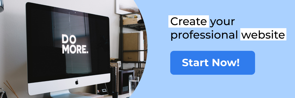 Create your professional website [Start now]