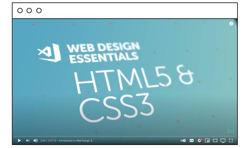 BYOL: Beginner Web Design Using HTML5, CSS3 & Visual Studio Code